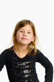 Little girl isolated Stock Photography