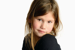 Little girl isolated Royalty Free Stock Image