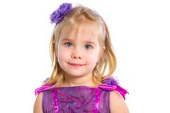 Little girl, isolated on white Royalty Free Stock Image