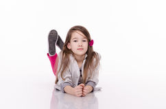 Little girl isolated on white background. Studio shot. Little girl isolated on white background. Studio shot Royalty Free Stock Images