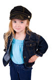 Little Girl in Jean Jacket Royalty Free Stock Images
