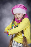 Little girl with jelly bean. Royalty Free Stock Photo