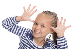 Little girl jokes Royalty Free Stock Image