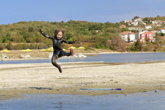 Little girl jump Royalty Free Stock Images
