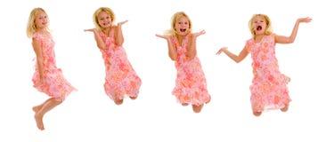 Little girl jumping Stock Photo