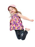 Little girl jumping. A little girl jumping for joy Royalty Free Stock Photos