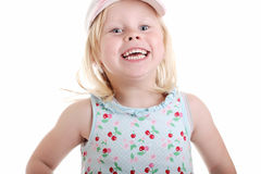 Little girl jumping Royalty Free Stock Image