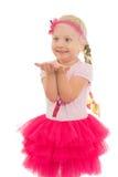 Little girl jumping Stock Image