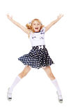Little girl jumping Royalty Free Stock Photography