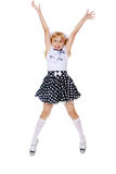 Little girl jumping Royalty Free Stock Photo