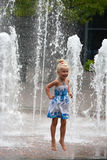 Little girl jumping Royalty Free Stock Photos