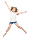 Little girl jumping Stock Photos