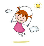 Little girl jumping rope Stock Photography