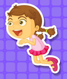 Little girl jumping and smiling Stock Photography