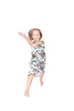 Little girl jumps Royalty Free Stock Photos