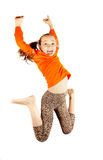Little girl jumps and plays Stock Photography