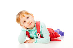 The little girl just posing Royalty Free Stock Image