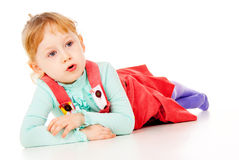 The little girl just posing Royalty Free Stock Photo