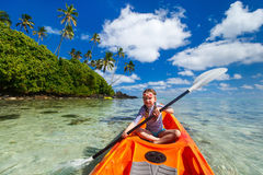Little girl in kayak Royalty Free Stock Image
