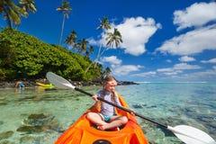 Little girl in kayak Royalty Free Stock Photography