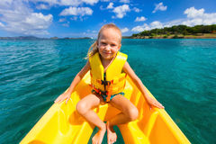 Little girl in kayak Royalty Free Stock Photos