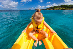Little girl in kayak Royalty Free Stock Images