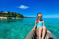 Little girl in kayak Royalty Free Stock Image