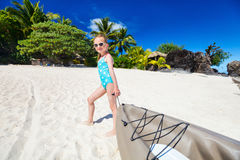 Little girl in kayak Royalty Free Stock Photo
