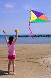 Little girl with a kite Royalty Free Stock Photography