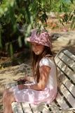 Little girl with kitten Stock Photography