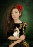 Little girl and kitten Stock Photo