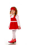 A little girl in a knitted dress Royalty Free Stock Photos