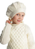 Little girl in knitted hat Royalty Free Stock Photography