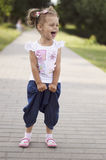Little girl laughing Royalty Free Stock Image