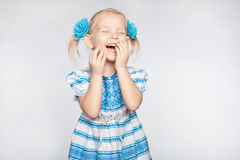 Little girl laughing Stock Photo