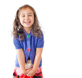 Little girl laughing and looking into the camera Royalty Free Stock Images