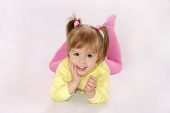 The little girl laughs Royalty Free Stock Images
