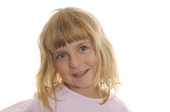 Little girl laughs Royalty Free Stock Photography
