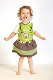 A little girl laughs. A little girl expresses the gladness Stock Photos