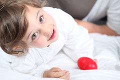 Little girl laying Royalty Free Stock Images