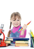 The little girl learn Royalty Free Stock Photos