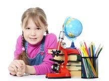 The little girl learn Stock Photo