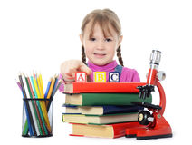 The little girl learn Royalty Free Stock Image