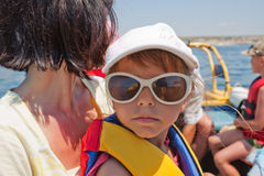 Little girl in life jacket Stock Photography