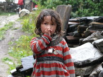 Little girl from Lihi - Nepal Royalty Free Stock Images