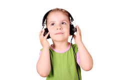 Little girl listening music Royalty Free Stock Images