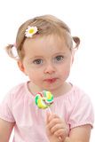 Little girl with lollipop Stock Photo