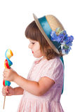 Little girl with lollipop Royalty Free Stock Image