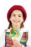 Little girl with lollipop Royalty Free Stock Photography