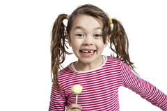 Little girl with a lollipop Royalty Free Stock Image